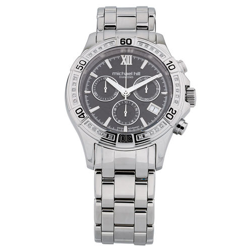 Bargain - $799 (was $1,399) - Men`s Chronograph Watch with Diamonds in Stainless Steel @ Michael Hill