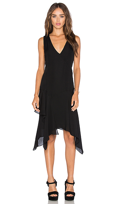Bargain - $287.10 (was $732.55) - DEREK LAM 10 CROSBY Asymmetrical Tank Dress in Black | REVOLVE