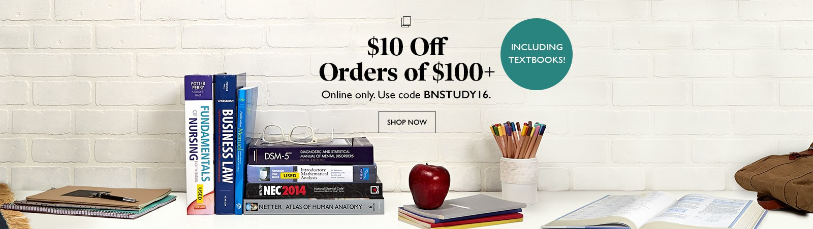 Bargain - 10% OFF - Orders of $100+ @ Barnes and Noble