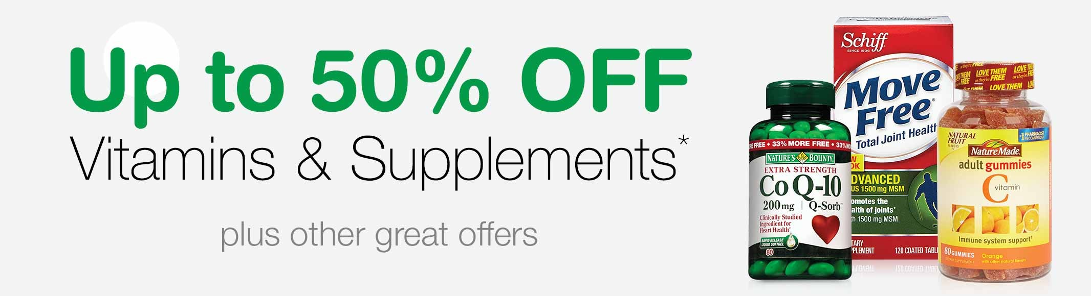 Bargain - Up to 50% OFF - Vitamins and Supplements - Weekly Deals | Walgreens