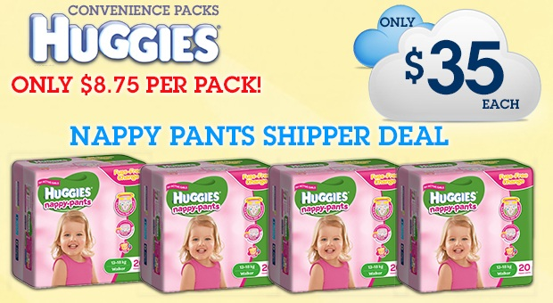 Bargain - $35 (was $59.96) - Nappy Pants Shipper Deal @ Nappies Direct