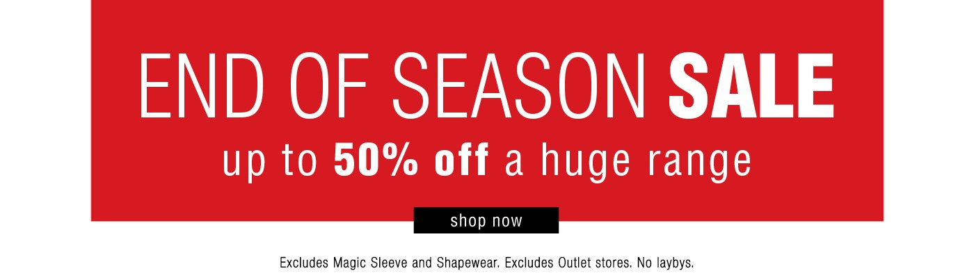 Bargain - Up to 50% Off -  End of Season Sale @ K&K
