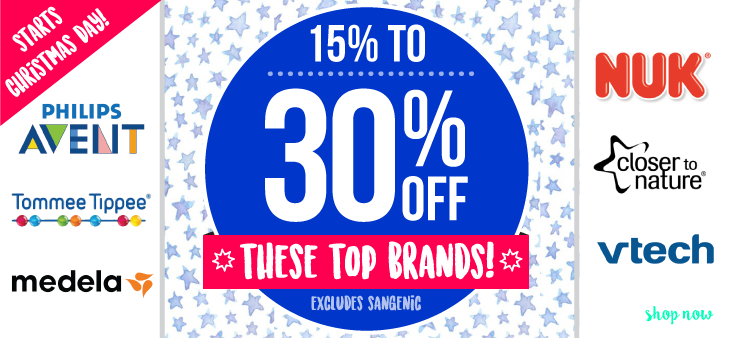 Bargain - 15 to 30% Off - Top Brands @ The Baby Factory