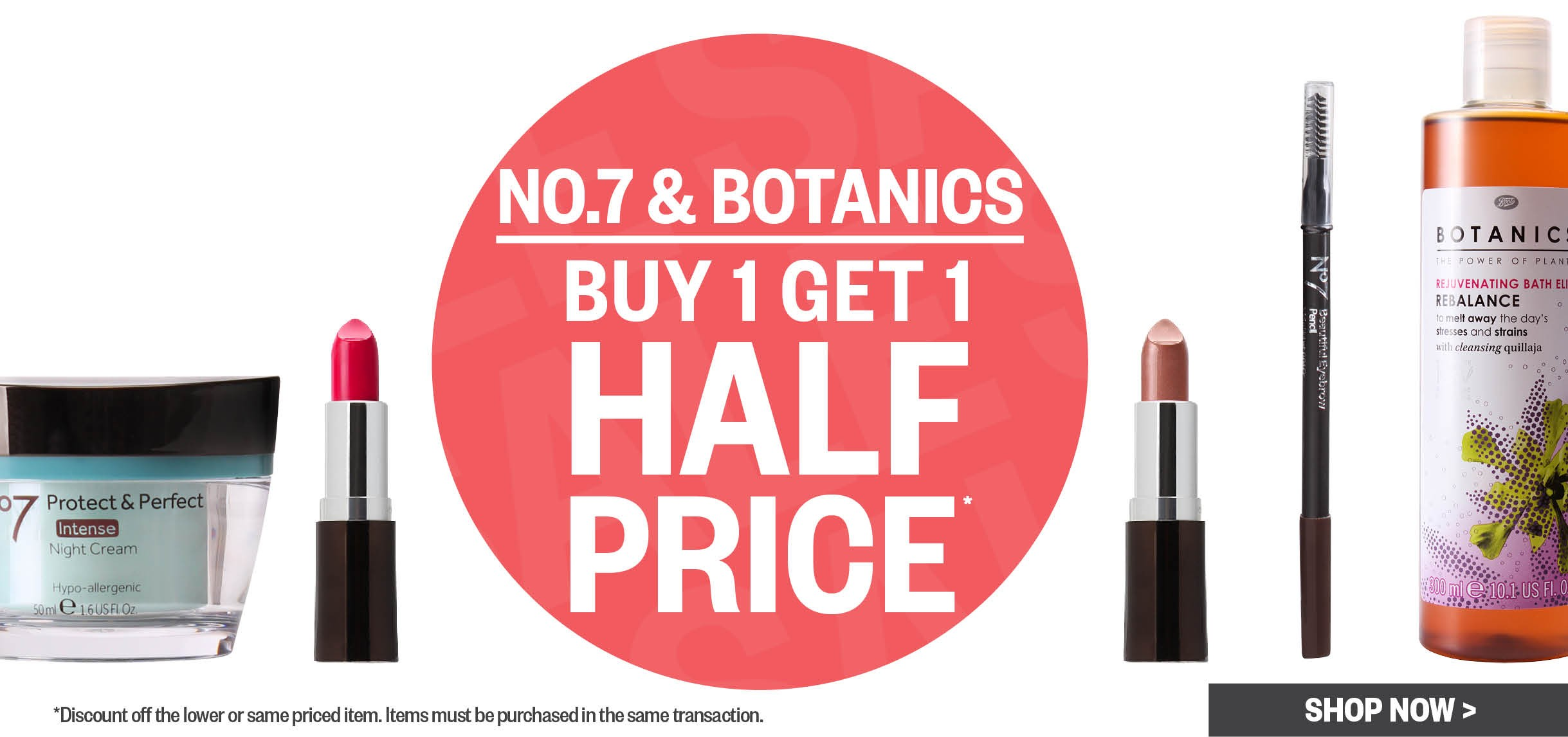 Bargain - Buy 1 Get 1 Half Price - No. 7 & Botanics @ Postie