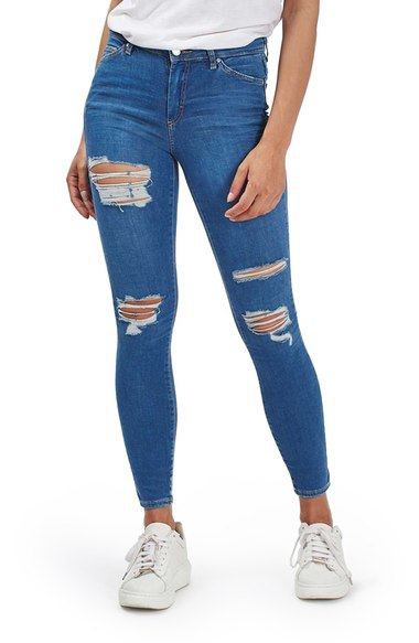 Bargain - $44.98 (40% OFF) - Topshop Moto Leigh Super Ripped Ankle Skinny Jeans | Nordstrom