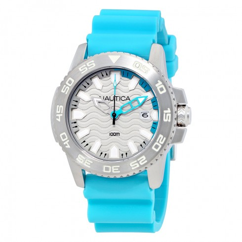 Bargain - $39.99 (76% off) - Nautica NSR 20 Sports Silver Dial Watch NAI12531G - Nautica - Watches - Jomashop