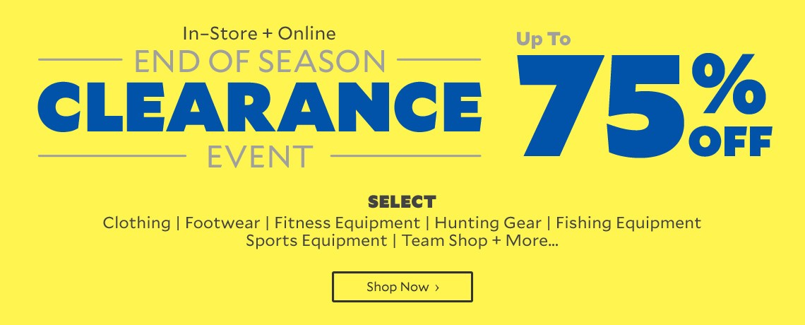 Bargain - Up to 75% OFF - Clearance Event @ Academy