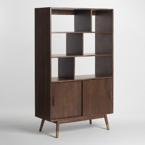 Bargain - $249.99 (was $499.99) - Walnut Brown Wood Randi Mid Century Bookcase | World Market