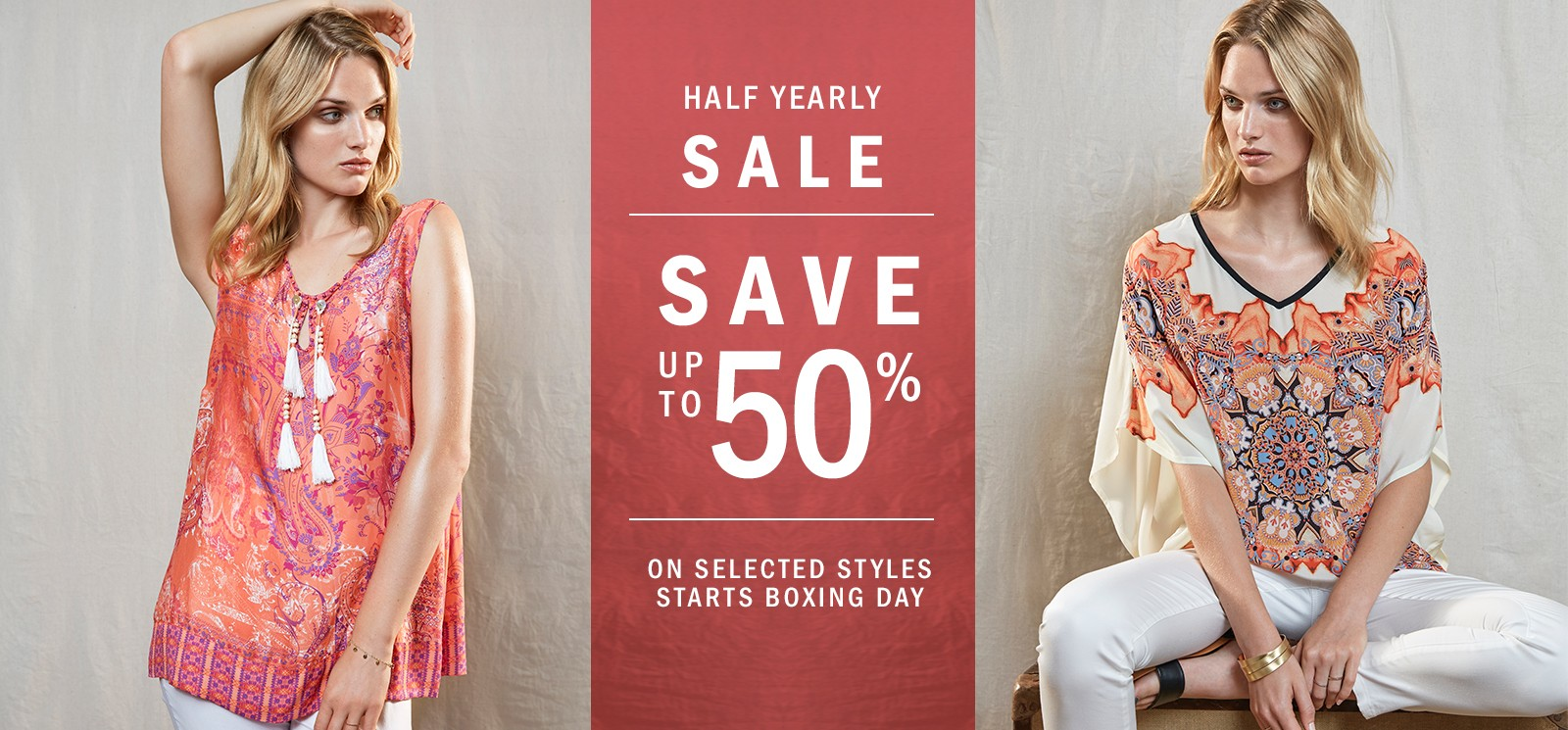 Bargain - Up to 50% Off - Selected Styles - Boxing Day Sale @ Hartleys Fashion