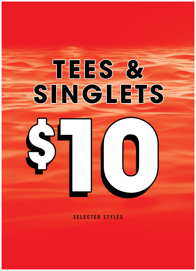 Bargain - Now $10 - Tees & Singlets @ Hallenstein Brothers
