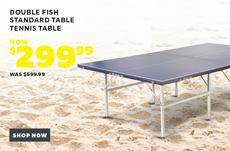 Bargain - $299.99 (was $599.99) - DOUBLE FISH STANDARD TABLE TENNIS TABLE @ Rebel Sport