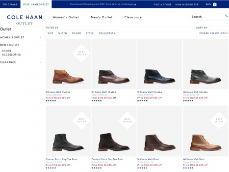 Bargain - 50-70% OFF - Men`s Outlet : Shoes & Accessories | Cole Haan Outlet