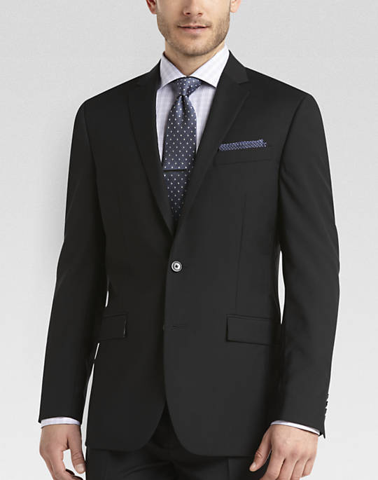 Bargain - $79.99 (was $599.99) - Egara Black Slim Fit Suit - Slim Fit | Men`s Wearhouse