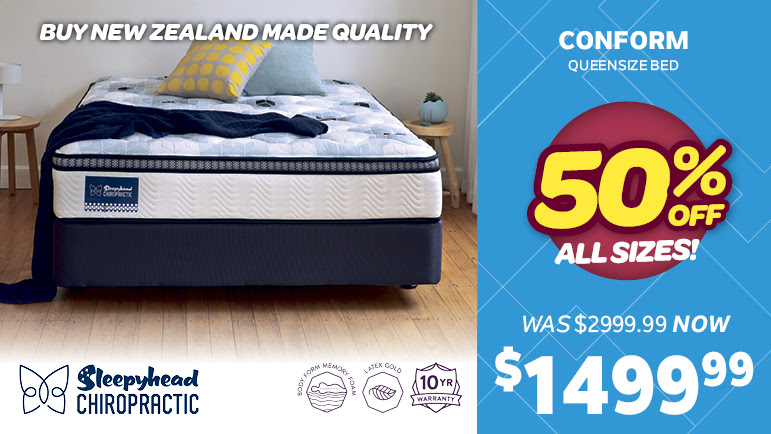 Bargain - $1,499.99 (50% OFF) - Sleepyhead Chiropractic Conform Queen Bed @ Smiths City