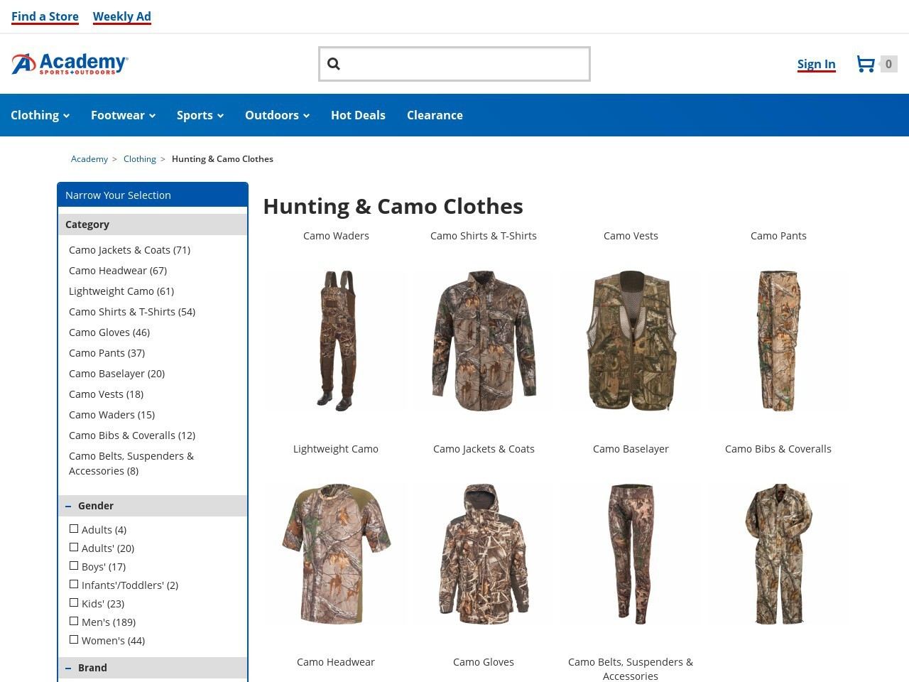 Bargain - Up to 50% OFF - Men`s, Women`s & Kids` Camo Apparel and Accessories @ Academy