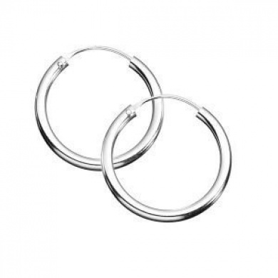 Bargain - $9.95 (save $13.99) - Sterling Silver 10 mm Sleeper Hoop Earrings @ Fishpond