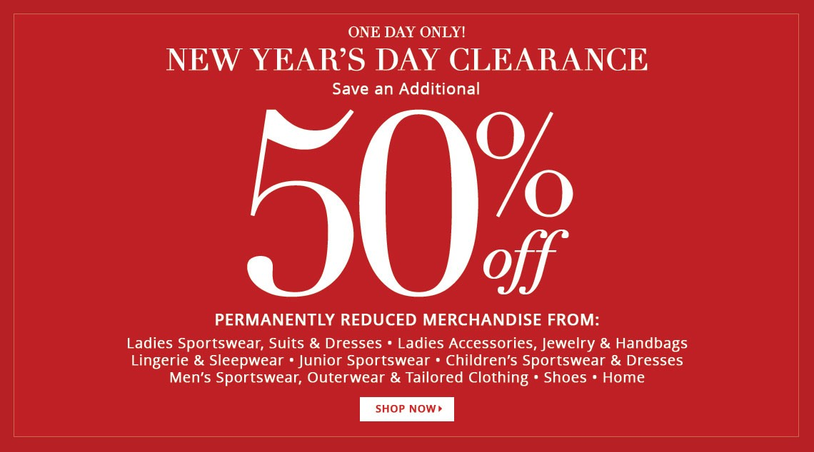 Bargain - Additional 50% OFF - New Year`s Day Clearance @ Dillards
