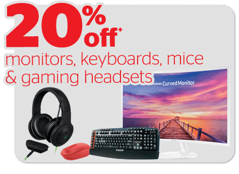 Bargain - 20% OFF - Monitors, Keyboards, Mice & Gaming Headsets @ Noel Leeming