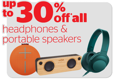 Bargain - Up to 30% OFF - Headphones & Portable Speakers @ Noel Leeming