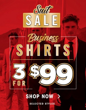 Bargain - 3 for $99 - Business Shirts @ Hallenstein Brothers