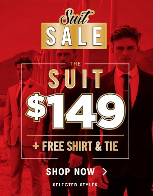 Bargain - for $149 + Free Shirt & Tie - Suit Sale @  Hallenstein Brothers