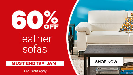 Bargain - 60% Off - Leather Sofas @ Farmers