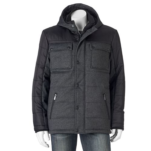 Bargain - $74.99 (was $180) - Men`s Apt. 9® Modern-Fit Quilted Mixed Media Puffer Jacket @ Kohl`s