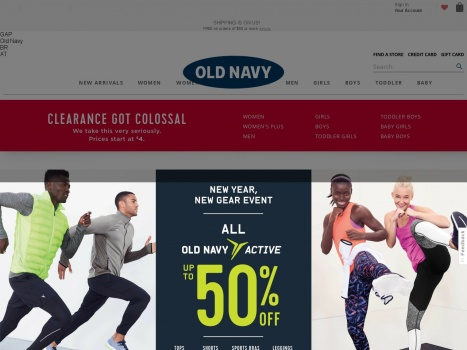 Bargain - Up to 50% OFF - All Old Navy Activewear @ Old Navy
