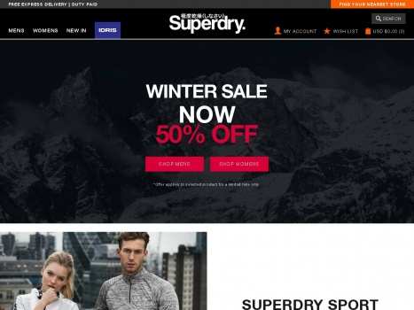 Bargain - 50% OFF - Winter Sale @ Super Dry