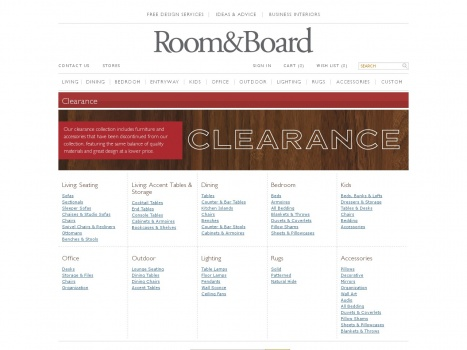 Bargain - 20-50% OFF - Room and Board Online Clearance