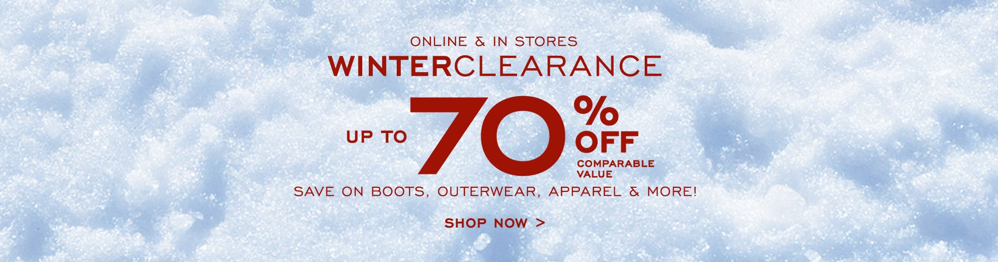 Bargain - Up to 70% OFF - Winter Clearance @ G. H. Bass & Co.