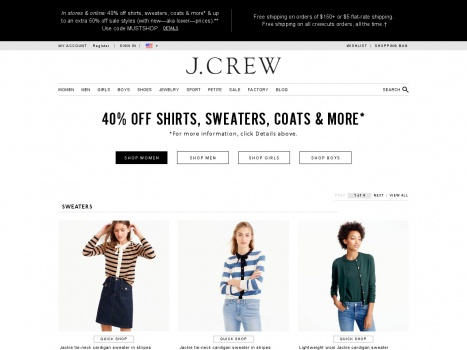 Bargain - 40% OFF - Shirts, Sweaters, Coats & More @ J. Crew