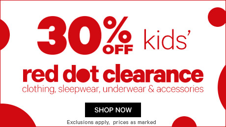 Bargain - 30% OFF - Kids` Red Dot Clearance @ Farmers