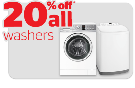 Bargain - 20% OFF - Washers @ Noel Leeming