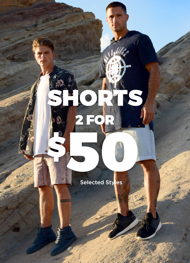 Bargain - 2 for $50 - Shorts & Boardies @ Hallenstein Brothers