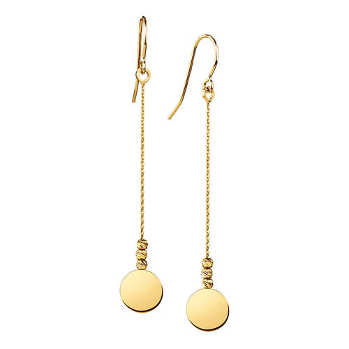 Bargain - $69 (was $209) - Drop Disc Earrings in 10ct Yellow Gold @ Michael Hill