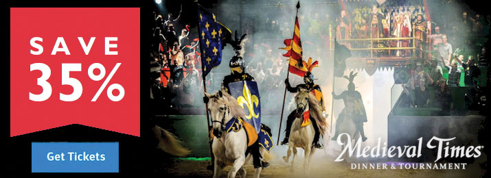 Bargain - 35% OFF - Medieval Times Dinner & Tournament Discount Tickets @ Destination Coupons