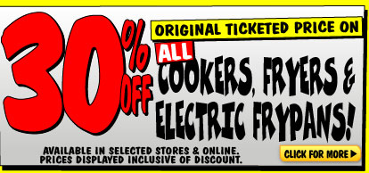 Bargain - 30% OFF - Cookers, Fryers & Electric Frypans @ JB Hi-Fi