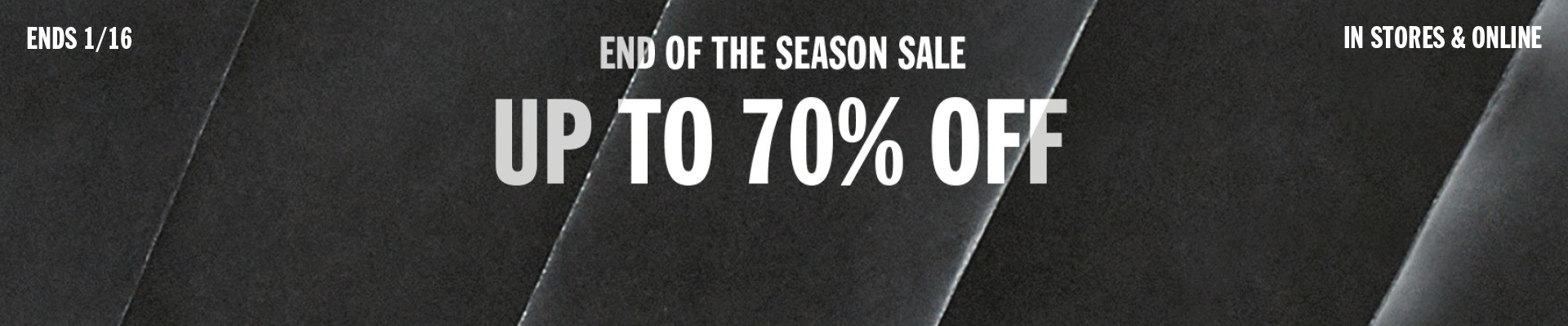 Bargain - Up to 70% OFF - End of Season Sale @ Urban Outfitters