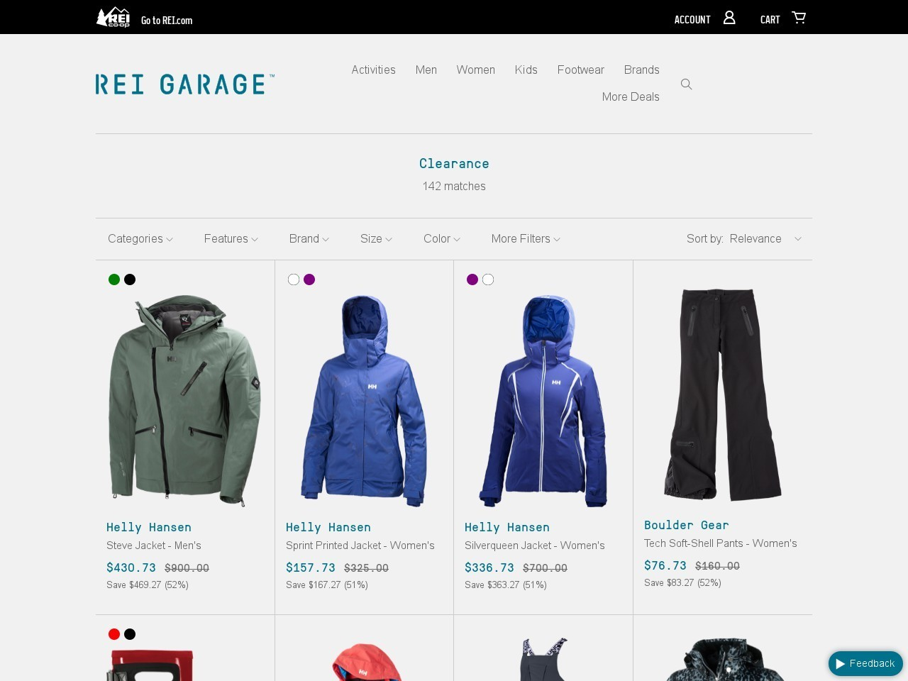 Bargain - Up to 71% OFF - Clearance Items @ Rei Garage