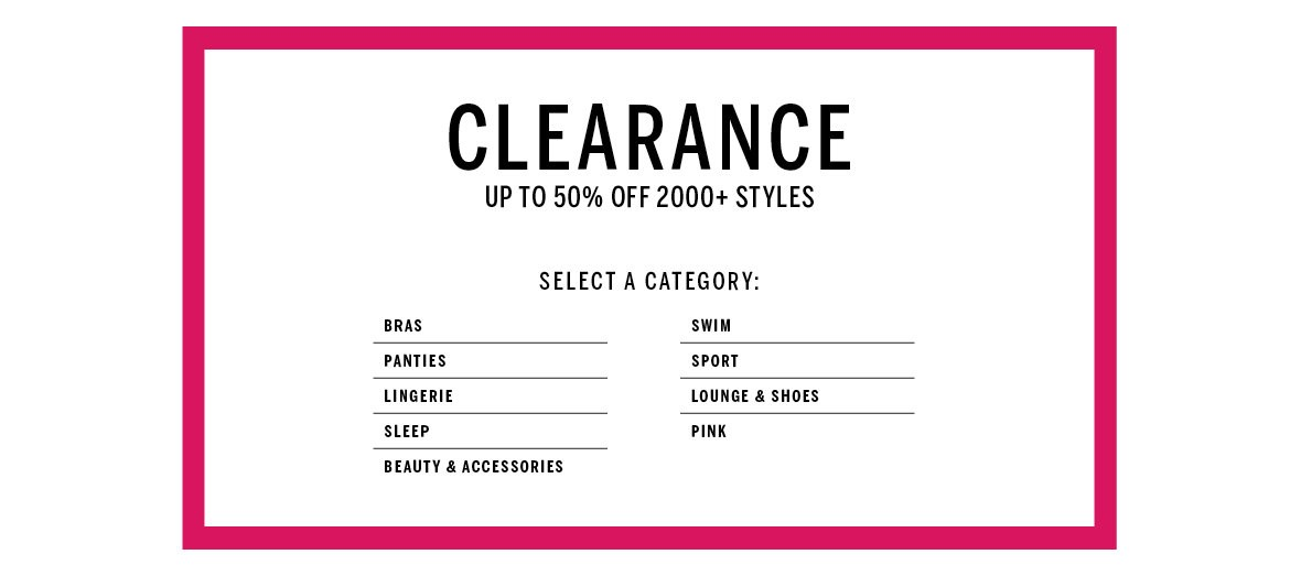 Bargain - Up to 50% OFF - Clearance Items @ Victoria`s Secret