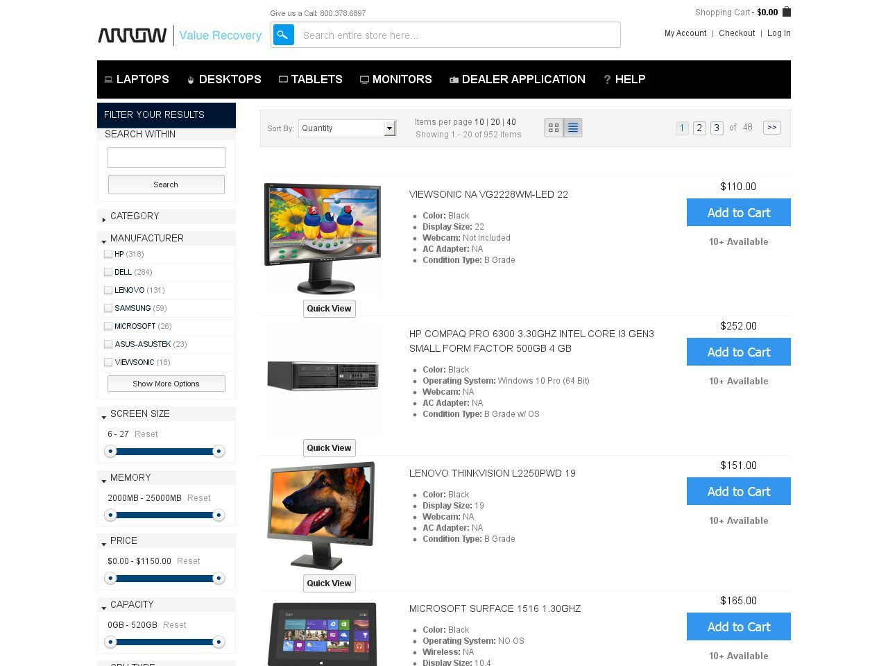 Bargain - Extra 33% OFF - Selected Refurbished Desktop PCs @ Arrow Direct