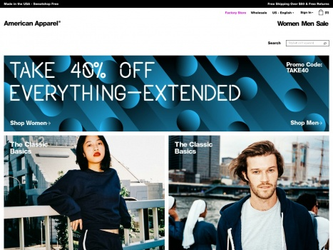 Bargain - Extra 40% OFF - Extended End of Year Sale @ American Apparel