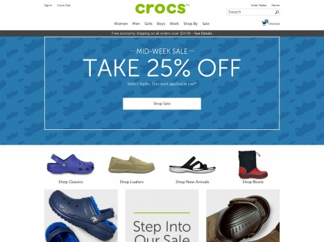 Bargain - Extra 25% OFF - Mid Week Sale Selected Styles @ Crocs