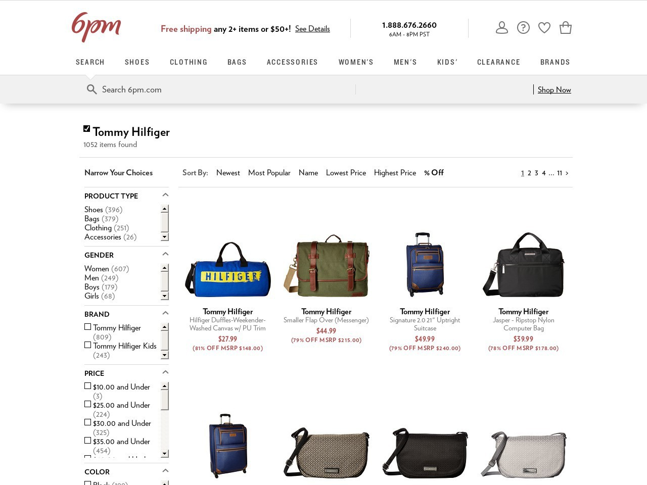 Bargain - Up to 81% OFF - Tommy Hilfiger at 6pm.com