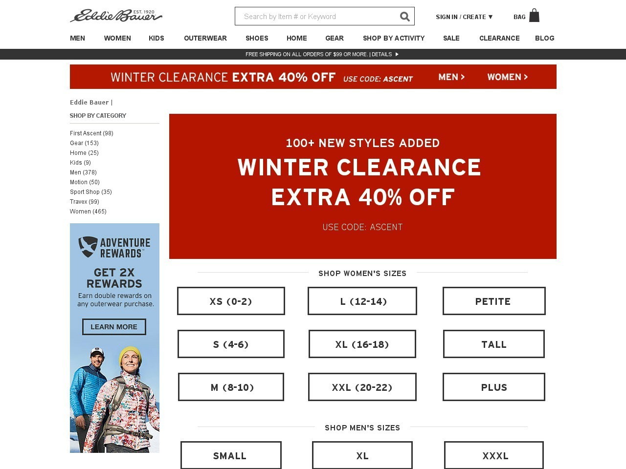 Bargain - Extra 40% OFF - Clearance | Eddie Bauer