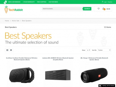 Bargain - Up to 80% OFF - Best Speakers | Tech Rabbit