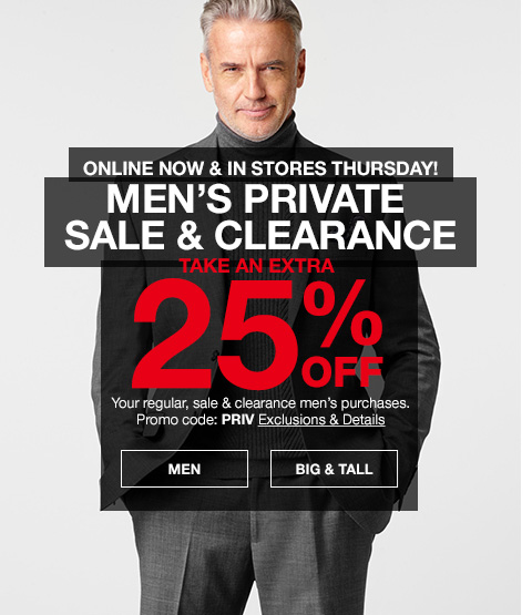 Bargain - Extra 25% Off - Men`s Styles @ Macy`s