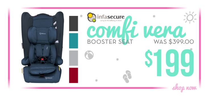 Bargain - $199 (50% OFF) - Infa Secure Comfi Vera Booster Seat @ Baby Factory
