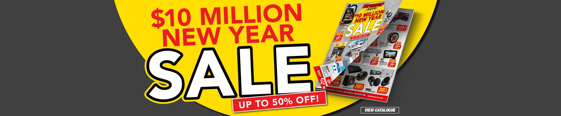 Bargain - Up to 50% Off - New Year Sale @ Supercheap Auto